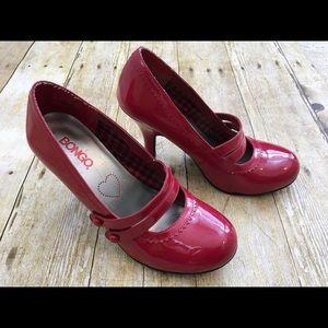 Bongo Red Heels Size 7 Kitschy